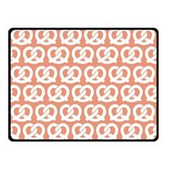 Salmon Pretzel Illustrations Pattern Double Sided Fleece Blanket (Small)