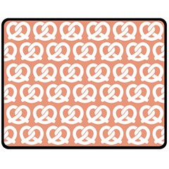 Salmon Pretzel Illustrations Pattern Double Sided Fleece Blanket (Medium)
