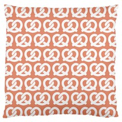 Salmon Pretzel Illustrations Pattern Standard Flano Cushion Cases (One Side)