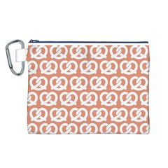 Salmon Pretzel Illustrations Pattern Canvas Cosmetic Bag (L)