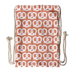 Salmon Pretzel Illustrations Pattern Drawstring Bag (Large)