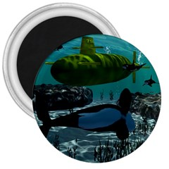 Submarine With Orca 3  Magnets