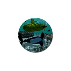 Submarine With Orca Golf Ball Marker (4 Pack)