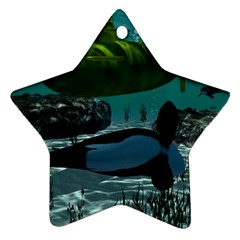 Submarine With Orca Star Ornament (Two Sides)