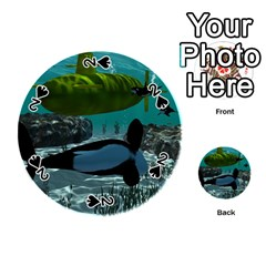 Submarine With Orca Playing Cards 54 (round)