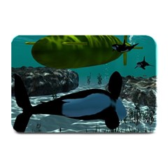 Submarine With Orca Plate Mats