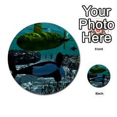 Submarine With Orca Multi-purpose Cards (Round)