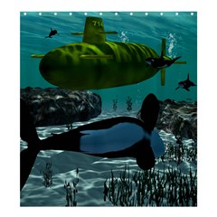 Submarine With Orca Shower Curtain 66  X 72  (large)