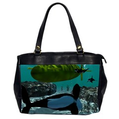 Submarine With Orca Office Handbags (2 Sides)