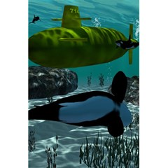 Submarine With Orca 5 5  X 8 5  Notebooks