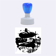Submarine With Orca Rubber Round Stamps (medium)