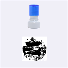 Submarine With Orca Rubber Round Stamps (Small)