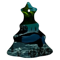 Submarine With Orca Christmas Tree Ornament (2 Sides)