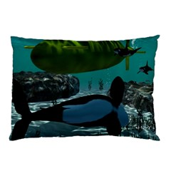 Submarine With Orca Pillow Cases (Two Sides)