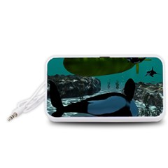 Submarine With Orca Portable Speaker (White)