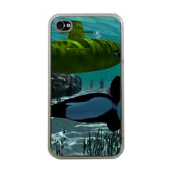 Submarine With Orca Apple iPhone 4 Case (Clear)
