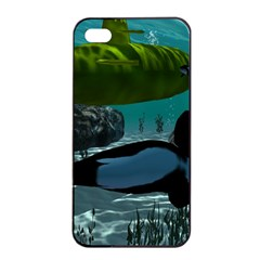 Submarine With Orca Apple iPhone 4/4s Seamless Case (Black)