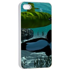 Submarine With Orca Apple iPhone 4/4s Seamless Case (White)