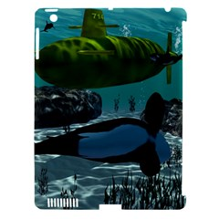 Submarine With Orca Apple iPad 3/4 Hardshell Case (Compatible with Smart Cover)