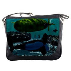 Submarine With Orca Messenger Bags