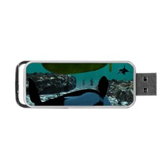 Submarine With Orca Portable USB Flash (One Side)