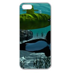 Submarine With Orca Apple Seamless iPhone 5 Case (Clear)