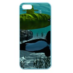 Submarine With Orca Apple Seamless iPhone 5 Case (Color)