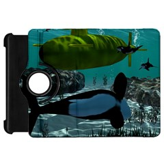 Submarine With Orca Kindle Fire HD Flip 360 Case