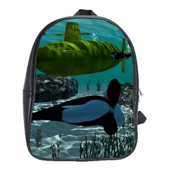 Submarine With Orca School Bags (XL)