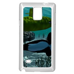 Submarine With Orca Samsung Galaxy Note 4 Case (White)