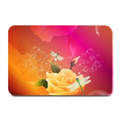 Beautiful Roses With Dragonflies Plate Mats