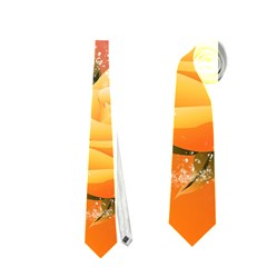 Beautiful Roses With Dragonflies Neckties (one Side)
