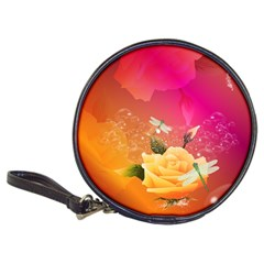 Beautiful Roses With Dragonflies Classic 20-CD Wallets