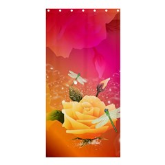 Beautiful Roses With Dragonflies Shower Curtain 36  x 72  (Stall)