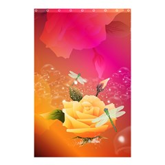 Beautiful Roses With Dragonflies Shower Curtain 48  x 72  (Small)