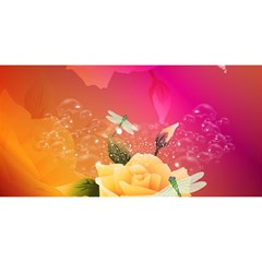 Beautiful Roses With Dragonflies YOU ARE INVITED 3D Greeting Card (8x4)