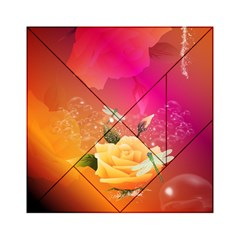 Beautiful Roses With Dragonflies Acrylic Tangram Puzzle (6  X 6 )