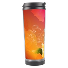 Beautiful Roses With Dragonflies Travel Tumblers