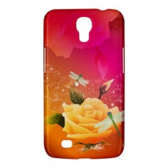 Beautiful Roses With Dragonflies Samsung Galaxy Mega 6.3  I9200 Hardshell Case