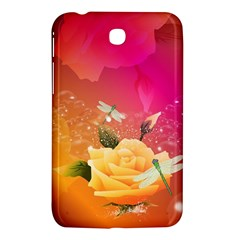 Beautiful Roses With Dragonflies Samsung Galaxy Tab 3 (7 ) P3200 Hardshell Case