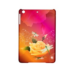 Beautiful Roses With Dragonflies iPad Mini 2 Hardshell Cases