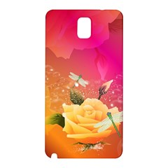 Beautiful Roses With Dragonflies Samsung Galaxy Note 3 N9005 Hardshell Back Case