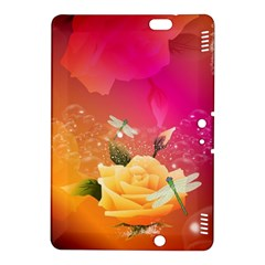 Beautiful Roses With Dragonflies Kindle Fire HDX 8.9  Hardshell Case