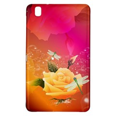 Beautiful Roses With Dragonflies Samsung Galaxy Tab Pro 8 4 Hardshell Case