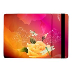 Beautiful Roses With Dragonflies Samsung Galaxy Tab Pro 10.1  Flip Case