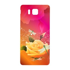 Beautiful Roses With Dragonflies Samsung Galaxy Alpha Hardshell Back Case