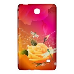 Beautiful Roses With Dragonflies Samsung Galaxy Tab 4 (7 ) Hardshell Case