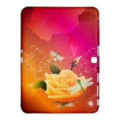 Beautiful Roses With Dragonflies Samsung Galaxy Tab 4 (10.1 ) Hardshell Case
