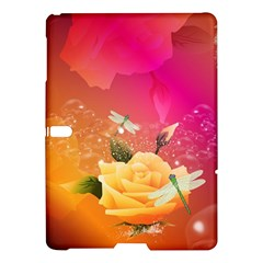 Beautiful Roses With Dragonflies Samsung Galaxy Tab S (10 5 ) Hardshell Case