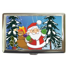 Funny Santa Claus In The Forrest Cigarette Money Cases